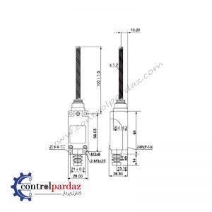 مشخصات لیمیت سوئیچ CNTD مدل TZ-8167