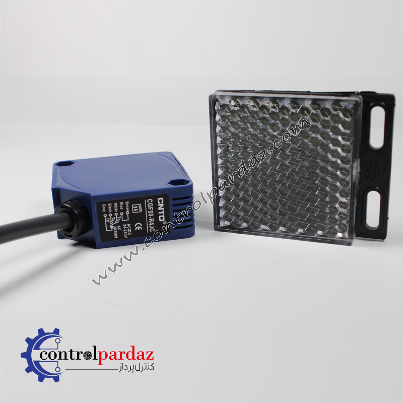 مشخصات سنسور نوری آینه دار CNTD مدل CGF50-R4JC