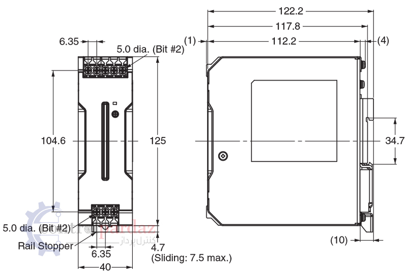 مشخصات منبع تغذیه سوئیچینگ امرن مدل S8VK-C12024