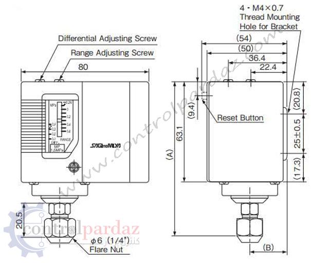 خرید و مشخصات پرشر سوئیچ ساگینومیا (SAGINOMIYA) مدل SNS-C130X