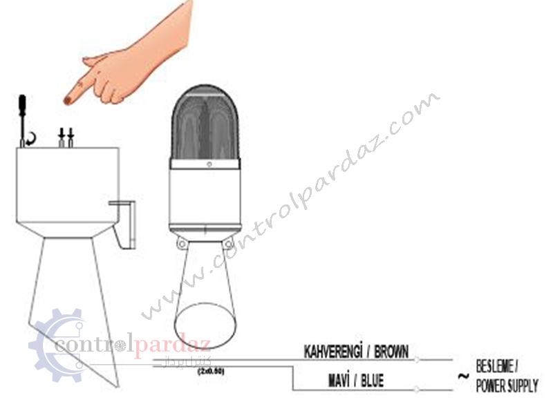 مشخصات چراغ گردان آژیردار MUCCO مدل SNT-B712-1