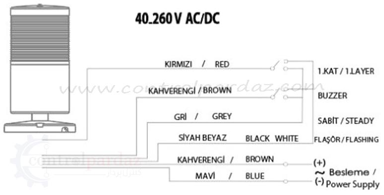 چراغ گردان آژیردار MUCCO مدل SNT-7022-DB1-1