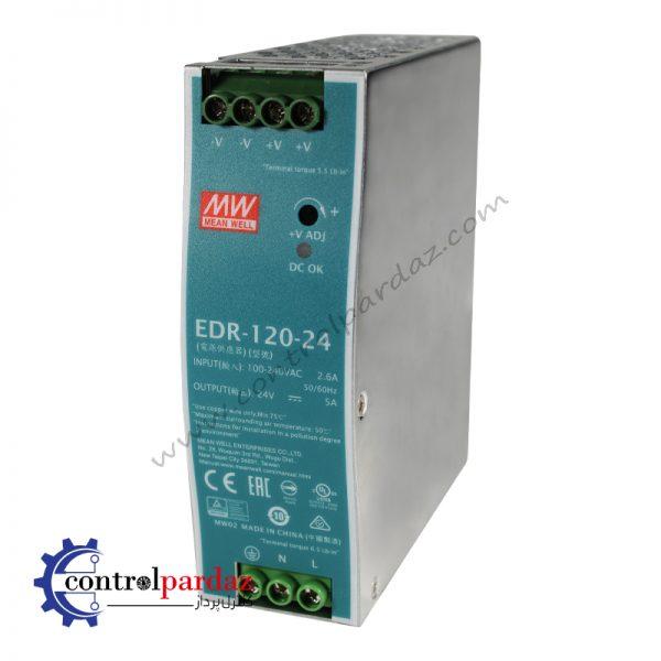 منبع تغذیه سوئیچینگ مین ول مدل EDR-120-24