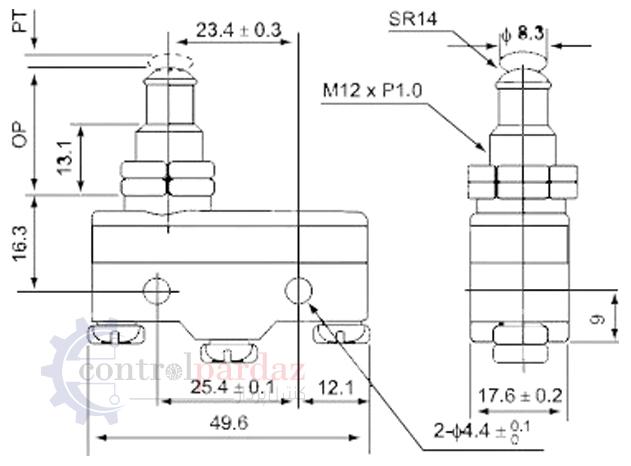 مشخصات لیمیت سوئیچ CNTD CM-1307